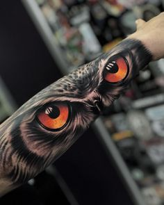 creative owl tattoo © tattoo studio Real Ink Tattoo Studio 📌💕🐤💕🐤💕🐤💕📌 Octopus Tattoos, Bear Tattoos, Wolf Tattoos, Forearm Tattoos, Animal Tattoos, Life Tattoos, Sleeve Tattoos, Body Art Tattoos, Owl Eye Tattoo