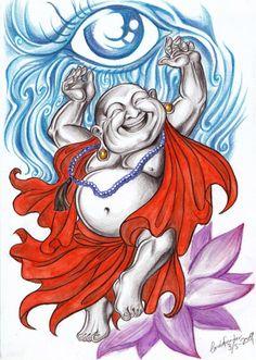 Laughing Buddha by ~CarolaFunder on deviantART