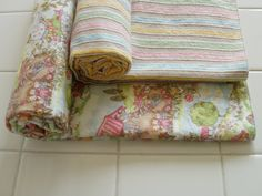 Nursery Rhymes Pastel Baby Blankets by TheCountryBluebird on Etsy