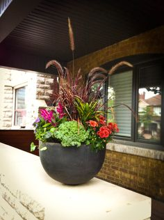 Decorative Urns For Plants A Colorful Arrangement In One Of The Decorative Urns Bordering The