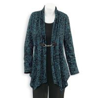 Paisley Print Clasp Cardigan. Bought this and am so glad I did: It's quickly become a favorite outfit.