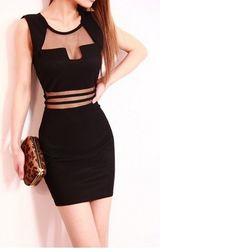 Vestido Mini Com Tule Preto