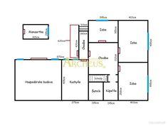 4 izb.RD v ŠAJ. HUMENCIACH, POZEMOK 2530 m2, NOVÝ ZÁHRADNÝ DOMČEK Floor Plans, Diagram