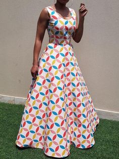 Ericdress Floor-Length Geometric Color Block African Style Dress Find latest women's clothing, dresses, tops, outerwear, and other fashion clothing and enjoy the worldwide shipping # African Fashion Dresses, African Dress, Fashion Outfits, African Style, Dress Fashion, Geometric Dress, Western Dresses, Occasion Dresses, Ideias Fashion