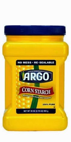 Cornstarch is not only for baking. Cornstarch can also be used to remove stains.