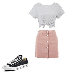 """Untitled #4"" by ivylai07 on Polyvore featuring Topshop and Converse"