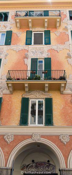 Artful facade in Chiavari, Liguria