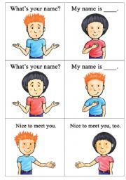 English teaching worksheets: What´s your name? MUCHAS OPCIONES Y DIFERENTES NIV. DIFICULTAD PARA ITALIANO