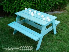 DIY Childrens Table by Tinsel and Wheat - Plans and pictures!