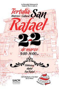 Tertulia San Rafael UACM San Rafael, Movies, Movie Posters, Mexico City, Films, Film Poster, Cinema, Movie, Film
