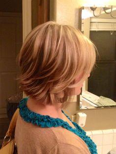 Fun Short layered hairstyle.. Thanks jenni! ;)
