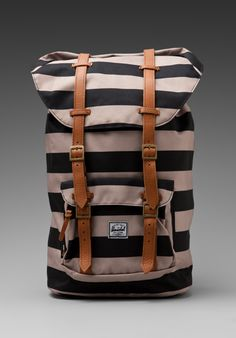 HERSCHEL SUPPLY CO. The Field Collection Little America in Black/Taupe at Revolve Clothing - Free Shipping!