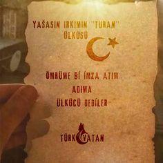 benim adım #TÜRK #VATAN sağolsun #günaydın asil ırkım #türkvatan #türk #vatan  #mhp Quotes, Instagram, Turkey Country, Quotations, Quote, Shut Up Quotes
