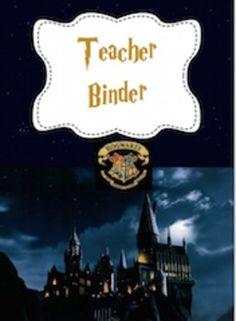 Teacher Binder Harry Potter Theme - ****EDITABLE****