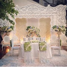 Outdoor Wedding 8 - The Weddings Guide Engagement Decorations, Outdoor Wedding Decorations, Backdrop Decorations, Backdrops, Javanese Wedding, Indonesian Wedding, Metal Wedding Arch, Wedding Mandap, Wedding Props