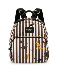 """Splatter Pain Mini Backpack - Canvas with splatter paint detailing - Full zippered closure - Water resistant coated canvas lining - Exterior front pouch - Adjustable backpack straps - """"Splatter Paint Mini Backpack"""" Painting Backpack, Canvas Backpack, Backpack Straps, Mini Backpack, Quilted Leather, Leather Bag, Splatter Paint Canvas, Jansport Backpack, Satchel"""