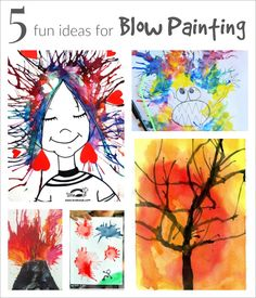 5 Fun Ideas for Blow Painting with Straws