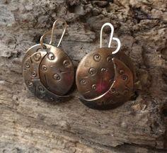 #18 - Bronze - Chased - Earwire Earrings