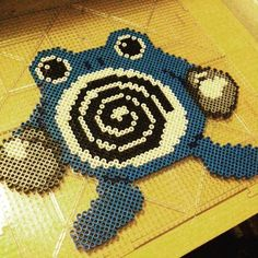 Poliwhirl (061) Pokemon perler beads by turdlebutt