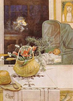 Carl Larsson «Gunlog without her Mama»
