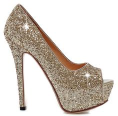 YE Damen Peeptoes High Heels Plateau Stiletto 13cm Absatz Pailletten Elegante Glitzer Fashion Party Pumps Schuhe: Amazon.de: Schuhe & Handtaschen