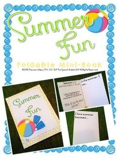 This FREEBIE is a great no-prep activity for speech therapists and parents alike!  Use this resource to bring some focus to those long summer days!  #speech #therapy #SLP #SpeechBubble #MiniBook #craftivity