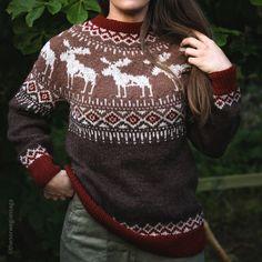 Design by The Norwegian Saga / Trude Bentsop Needles Sizes, Ravelry, Christmas Sweaters, Pullover, Wool, Stitch, Knitting, Saga, Pattern