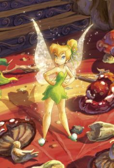 Artwork of Tinker Bell for the Disney Fairies book series