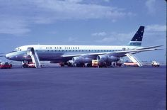 Gorgeous TEAL DC-8 Darwin Airport 1960s