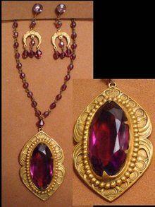 OLD  jewel Victorian NECKLACE chandelier