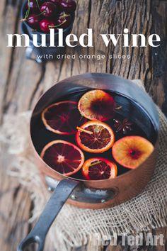 Orange Scented DIY Mulled Wine Kit - Red Ted Art Taste Au, Weihnachtlicher Cocktail, Winter Drink, Wine Kits, Spice Combinations, Dried Oranges, Medvedeva, Wine Glass, Drink Recipes