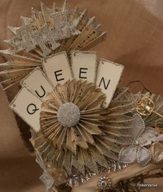 chicken wire crown with glitter, glitter and more glitter. no tutorial just pictures, but a good idea for your own.
