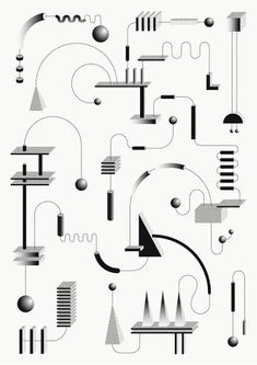 The graphic mechanics of Sophie Douala - - Graphisches Design, Book Design, Layout Design, Carta Collage, Portfolio Design, Graphic Pattern, Illustrations And Posters, Graphic Design Inspiration, Daily Inspiration