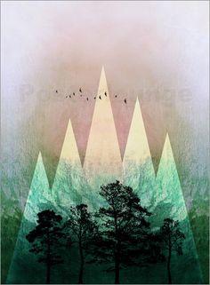 Pia Schneider   atelier COLOUR-VISION   - TREES under MAGIC MOUNTAINS IV  #art #artprints #kunst #kunstdrucke #piaschneider #posterlounge