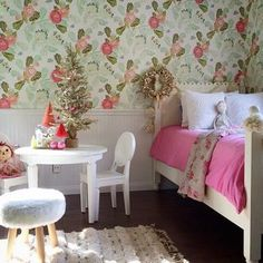 Watercolor Peony Wallpaper #anthrofave  Beautiful in an entryway or a closet
