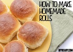 How To Make Homemade Rolls From Scratch: Mom's Homemade Yeast Roll Recipe. Step by step tutorial with lots of photos to follow the instructions- diyready.com #homemade #rolls #recipe