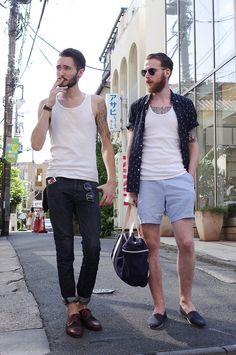 'stache hipsters  ストリートスナップ [SANCHEZ/FRANCOIS] | 原宿 | Fashionsnap.com