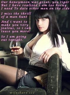 Wife's Hot Date Caption | cuckold hotwife