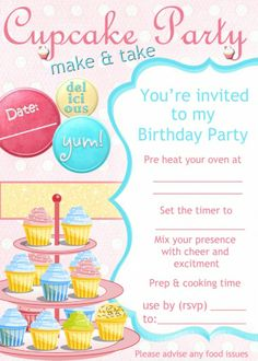FREE cupcake invitation from 'putting on a party'