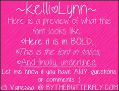 Image for KelliLynn font