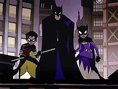 The trio Batman (Bruce Wayne) Batgirl (Barbra Gordon) And Robin (Dick Grayson) Batman Cartoon Series, Batman Show, Batman Tv Series, Batman The Animated Series, Batgirl And Robin, Batman And Batgirl, Batman Comic Art, Batman Robin, Funny Batman