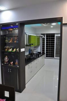53 Kitchen Interior To Update Your Living Room - Home Decoration Experts Living Room Partition Design, Room Partition Designs, Room Door Design, Kitchen Room Design, Modern Kitchen Design, Home Decor Kitchen, Interior Design Kitchen, Kitchen Furniture, House Design