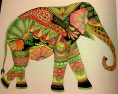 Animal Kingdom Colouring Book Elephant