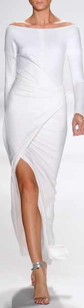 White dress with slit