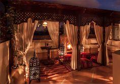 Roof Terrace at Riad Romm'an, Marrakech, Morocco.  http://www.riadromman.com