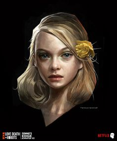 ArtStation - Love Death and Robots---Sonnie's Edge---, Cedric Peyravernay Call Of Cthulhu, David Fincher, Online Drawing, Portraits, Fantasy Illustration, Shadowrun, Global Art, Illustrations And Posters, Fantasy Girl
