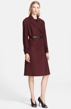 Burberry Brit Manningford Belted Wool Blend Coat | Clothing