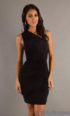 Short Black Ruched Dress BA