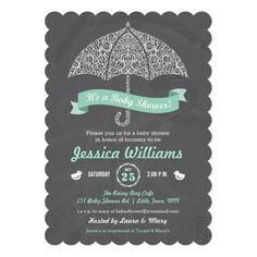 It's a Girl Baby Shower Umbrella Chalkboard Invite! Make your own invites more personal to celebrate the arrival of a new baby. Just add your photos and words to this great design. Chalkboard Baby, Chalkboard Invitation, Baby Shower Invitation Cards, Baby Shower Invitations For Boys, Vintage Invitations, Custom Invitations, Invitation Examples, Gender Neutral Baby Shower, Baby Boy Shower