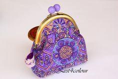 Lavender bobble frame Coin purse purple geometric ♥ by www.etsy.com/shop/Zest4Colour